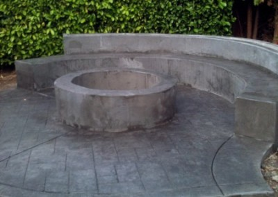 Concrete Fire pit and Bench