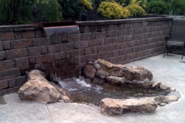 Retaining-Wall-Waterfall