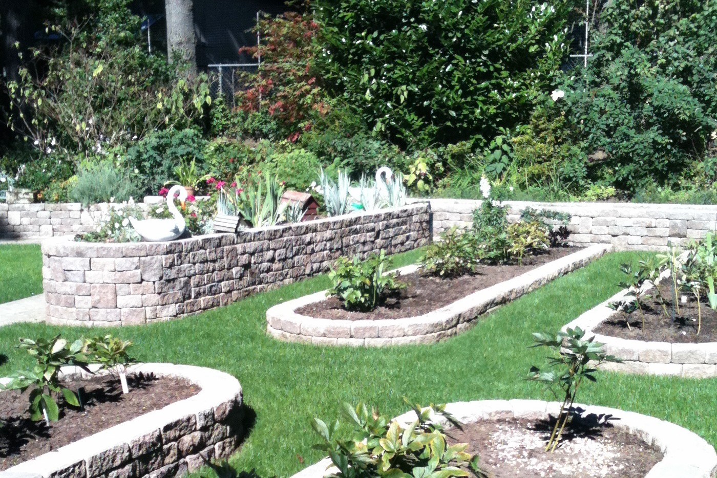 Retaining Wall Garden Beds